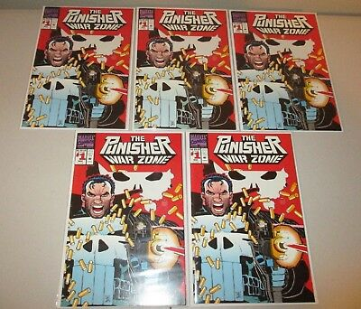Punisher War Zone #1  VF/NM  (Wholesale Lot of 5 Copies)   Marvel Comics 1992