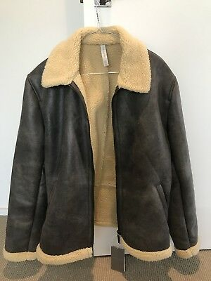 51834f39 ZARA MEN FAUX Shearling Jacket XL - £29.99 | PicClick UK