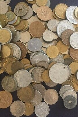 Lot Of 50 France Coins Pre Euro 1940s And Up French Francs Centimes World Coins