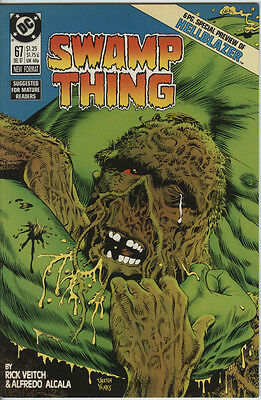 Swamp Thing 67 From 1987 Scarce Hellblazer Preview John Constantine