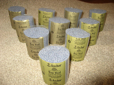 10 packs Anchor grey 6-ply rug wool,formerly Readicut/Homemakers.