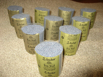 10 packs Anchor grey #871 6-ply rug wool,formerly Readicut/Homemakers.