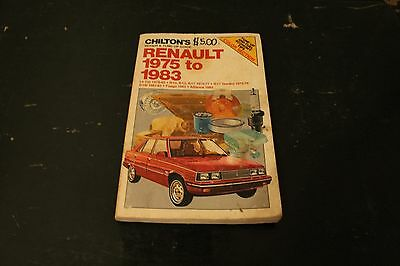 Chilton's Repair & Tune-Up Guide Renault 1975 To 1983