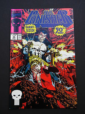 Punisher #50 NM 1991 Giant Size 50th Issue High Grade Marvel Comic  Never Read!