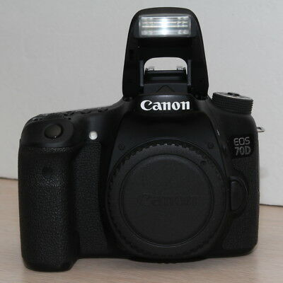 Canon EOS 70D 20.2MP Digital SLR Camera - Black (Body Only) - Used, Working #1