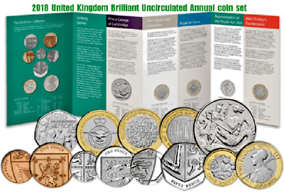 2018 BRAND NEW ROYAL MINT United Kingdom Brilliant Uncirculated Annual coin set
