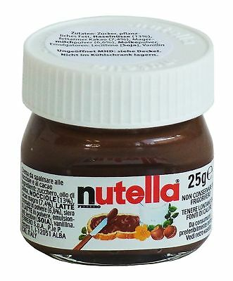Mini Pot of Nutella 25g Authentic and Rare - for Wedding, Occasions, Gifts...