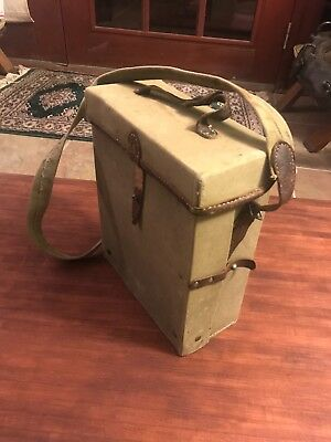 bulgarian ww2 medical kit. Leather and canvas.
