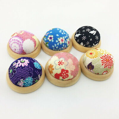 Wood Base Needle Pin Cushion Pillow Holder Sewing DIY Craft Stitch Needlework