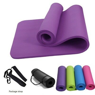 10MM Thick Yoga Mat Pad NBR Nonslip Exercise Fitness Pilate Gym Physio Foam Camp