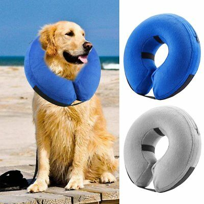 Inflatable Dog Puppy Cat Pet Vet Collar Post Recovery Surgery Cone Neck Injury