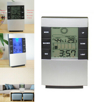 Home LCD Humidity Temperature Meter Hygrometer Indoor Thermometer Alarm Clock