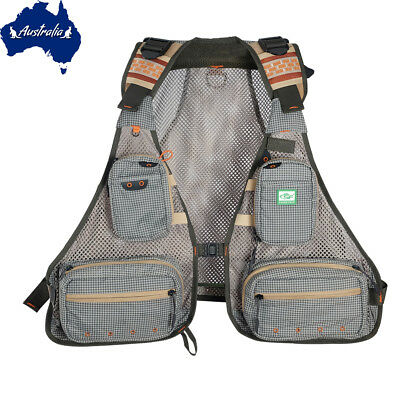 SF Utral Lightweight Fly Fishing Vest trout Breathable Mesh Vest Backpack 0.96LB
