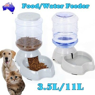 Automatic Pet Feeder Dispenser Dog Cat Auto Self Feeding Food Water Bowl 3.5/11L