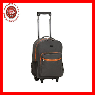 Backpack With Wheels For Boys Rolling School Travel Bag Kids Wheeled Back Pack