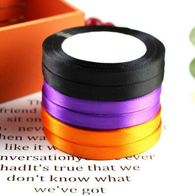 25Yards Satin Ribbon Multi Craft DIY Wedding Ties Bows Halloween Party Decor