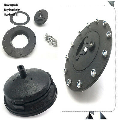 Universal Fuel Cell Gas Tank Filler Cap Cap+Filler Plate+Fittings For Car