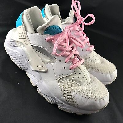 NIKE HUARACHE MENS  HUARACHE TRIPLE WHITE RETRO OG NEW PLATINUM Customized