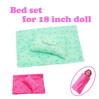 Bedding Set Sleeping Bag For 18 Inch American Girl Doll Accessory Girl's Toy