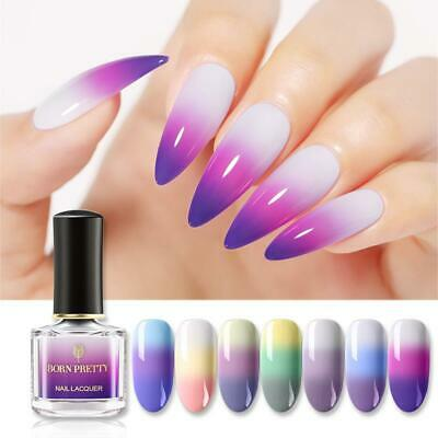 BORN PRETTY Color Changing Nail Polish Glitter Thermal Nail Varnish 19 Colors