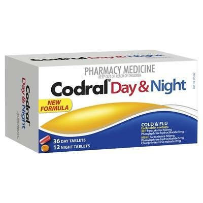 Codral Day & Night Cold & Flu 48 Tablets Headaches And Fever Relief
