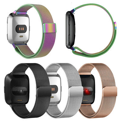 Milanese Loop Stainless Steel Watch Band Strap For FITBIT VERSA -Magnetic Buckle