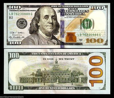United States America 100 Dollars 2009-2018 Usa Franklin Unc Money Bill Banknote