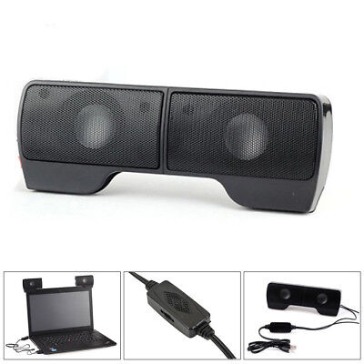 USB Power Wired Computer Speakers Stereo 3.5mm Jack For Desktop PC Laptop