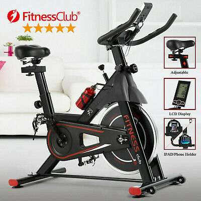 Indoor Stationary Exercise Bike Fitness Cycling Bicycle Automatic Sensor Movable