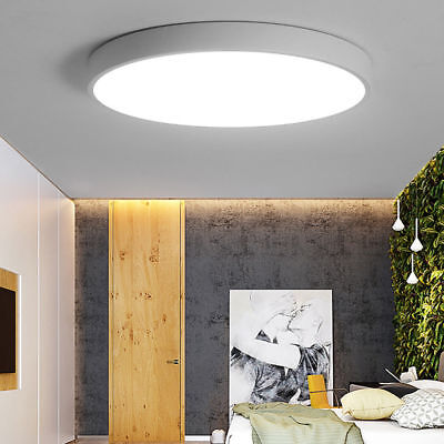 Modern White 18W Bathroom Kitchen IP44 Round Flush Ceiling Light Fitting Light