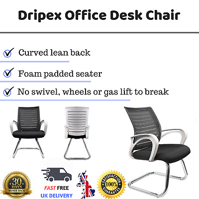 Dripex Office Desk Chair - Meeting Chair Visitor Chair with Medium Mesh Back Bre