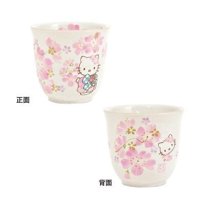 JAPANESE Hello Kitty Sakura Cherry Blossoms TEA Cup YUNOMI MADE IN JAPAN