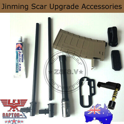 Gel Ball Blaster Magazine JinMing Scar V2 Alloy Barrel With Tpiece Modified Part