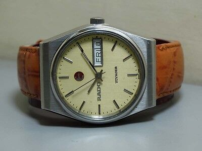 VINTAGE Rado Voyager Automatic Day Date Swiss 24211066 Watch e407 Used Antique