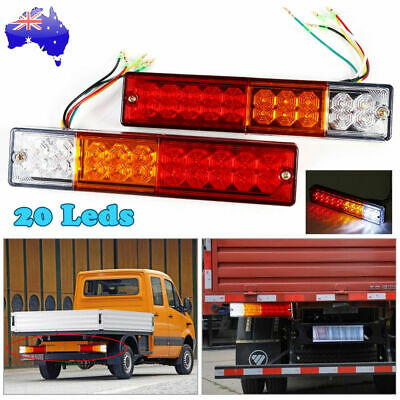 2x TRAILER LIGHTS 20 LED STOP TAIL INDICATOR REFLECTOR TRUCK CAMPER LIGHT 12V A
