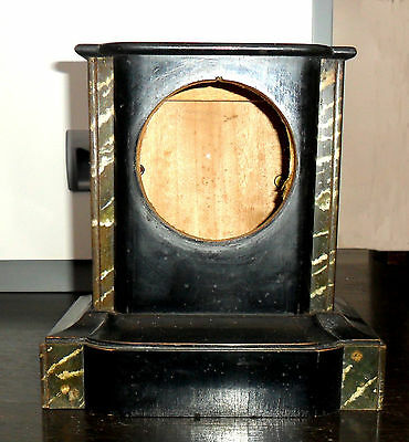 Imitation Belgian slate-marble clock body in Wood