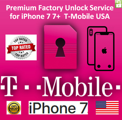 T-Mobile iPhone 7, 7+ 100% PREMIUM FACTORY UNLOCK SERVICE FAST