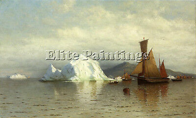 Bradford William Labrador Fishing Boats Near Cape Charles Artist Painting Canvas