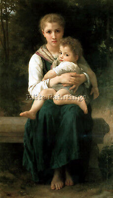 William Bouguereau Brother And Sister Artist Painting Reproduction Handmade Oil