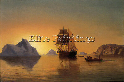 Bradford William An Arctic Scene Artist Painting Oil Canvas Repro Wall Art Deco