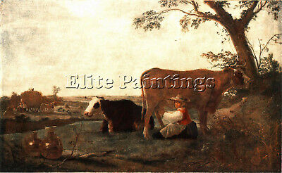 Cuyp Aelbert The Dairy Maid Artist Painting Reproduction Handmade Oil Canvas