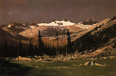 Bradford William Mount Lyell Above Yosemite Artist Painting Oil Canvas Repro