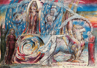 William Blake Artist Painting Reproduction Handmade Oil Canvas Repro Art Deco