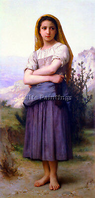 William Bouguereau Bergere 1886 Artist Painting Reproduction Handmade Oil Canvas