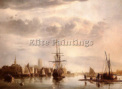 Cuyp Aelbert View Of Dordrecht Artist Painting Reproduction Handmade Oil Canvas