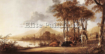 Cuyp Aelbert River Landscape Artist Painting Reproduction Handmade Oil Canvas