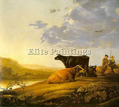 Cuyp Aelbert Young Herdsman With Cows Artist Painting Reproduction Handmade Oil