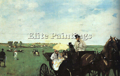 At The Races In The Country  Artist Painting Reproduction Handmade Oil Canvas