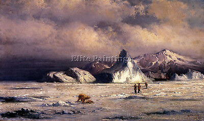 Bradford William Arctic Invaders Artist Painting Oil Canvas Repro Wall Art Deco