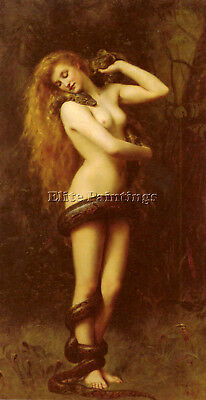 Collier John Lilith Artist Painting Reproduction Handmade Oil Canvas Repro Deco